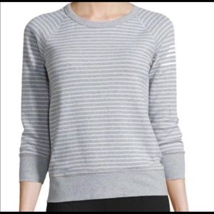 STANDARD JAMES PERSE Striped Raglan Pullover 2